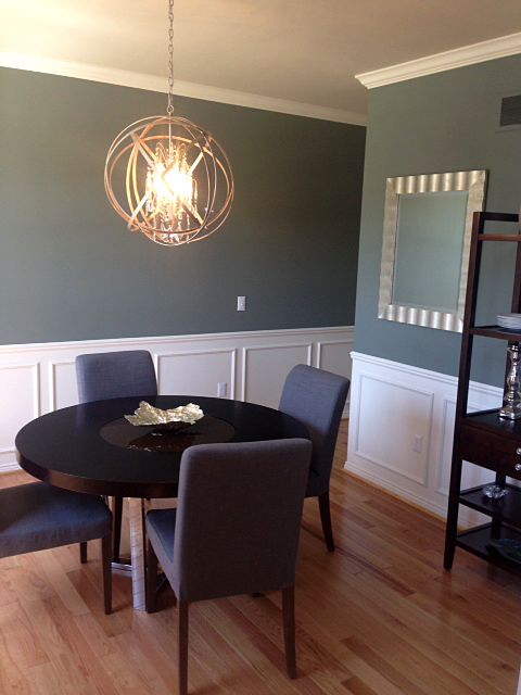 Dining room with wainscoting molding