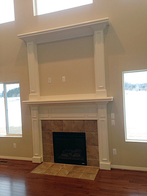 Fireplace with double mantle
