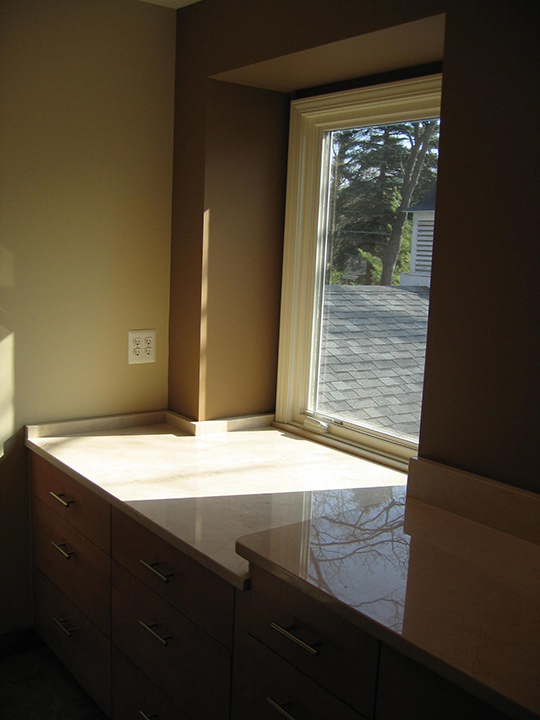 Marble counter tops in the master bath