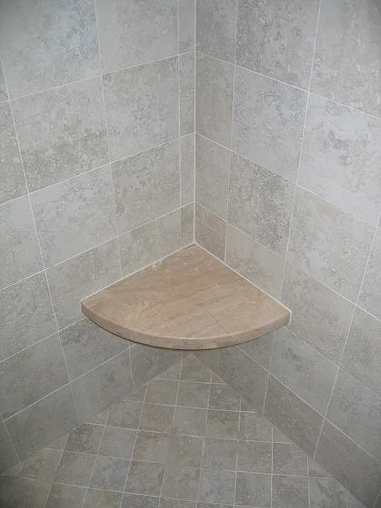 Marble shower seat
