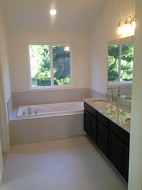 Master bath with high ceilings