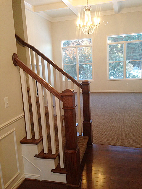 Staircase with craftsman handrail