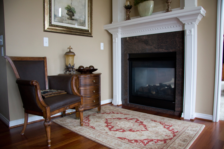 Two room fireplace