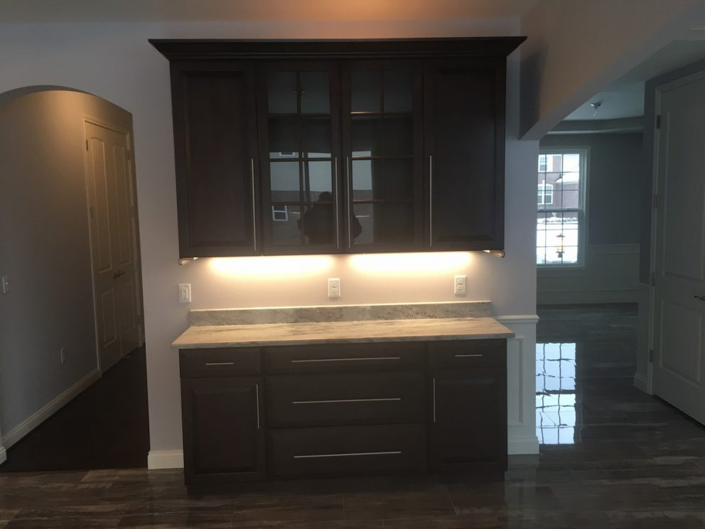 Buffet with under cabinet lighting