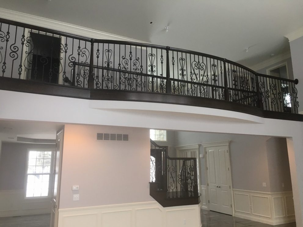 Romeo and Juliet balcony with rod iron decorative spindles